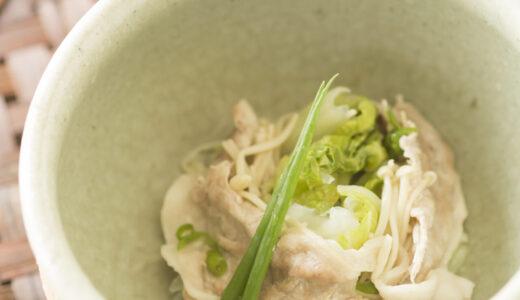 【ビタミンB1が豊富!】豚肉と白菜の蒸煮